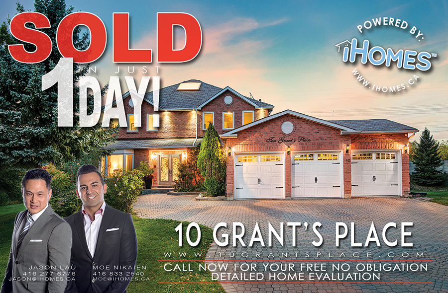 SOLD IN JUST 1 DAY: 10 GRANTS PLACE, MARKHAM | $1,942,000